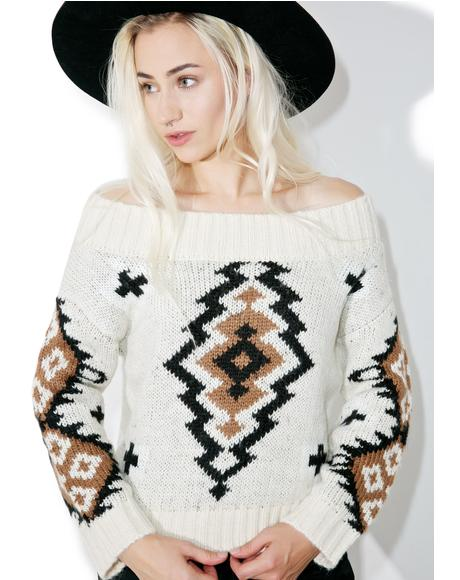 River Valley Off Shoulder Sweater