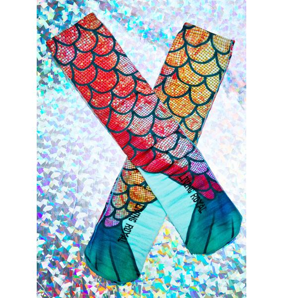 Mermaid Fin Socks