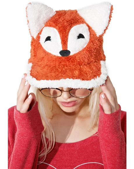 Fuzzy Fox Hat