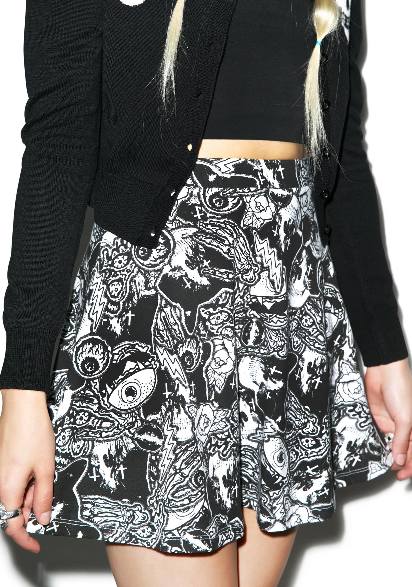 Iron Fist Patch Me Up Skater Skirt