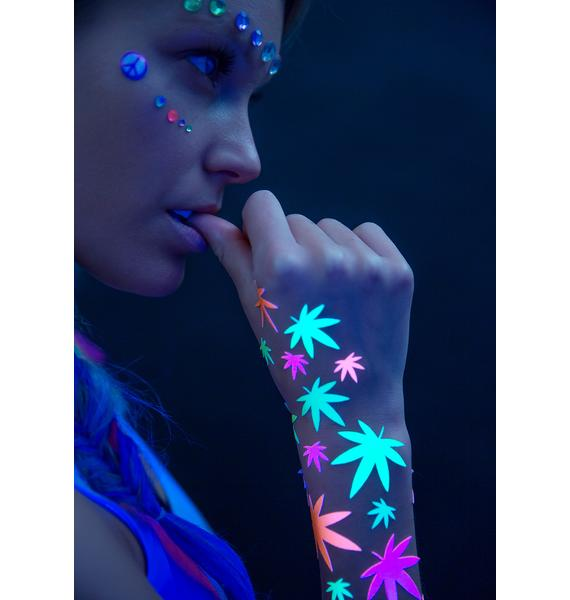 Sasswear Weed Blacklight Body Stickers