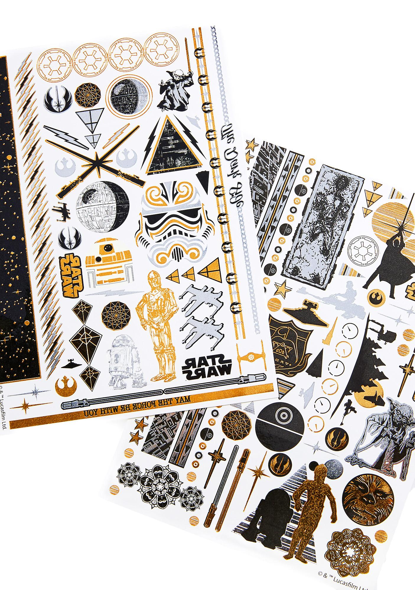 Love And Madness Star Wars Tattoo Set