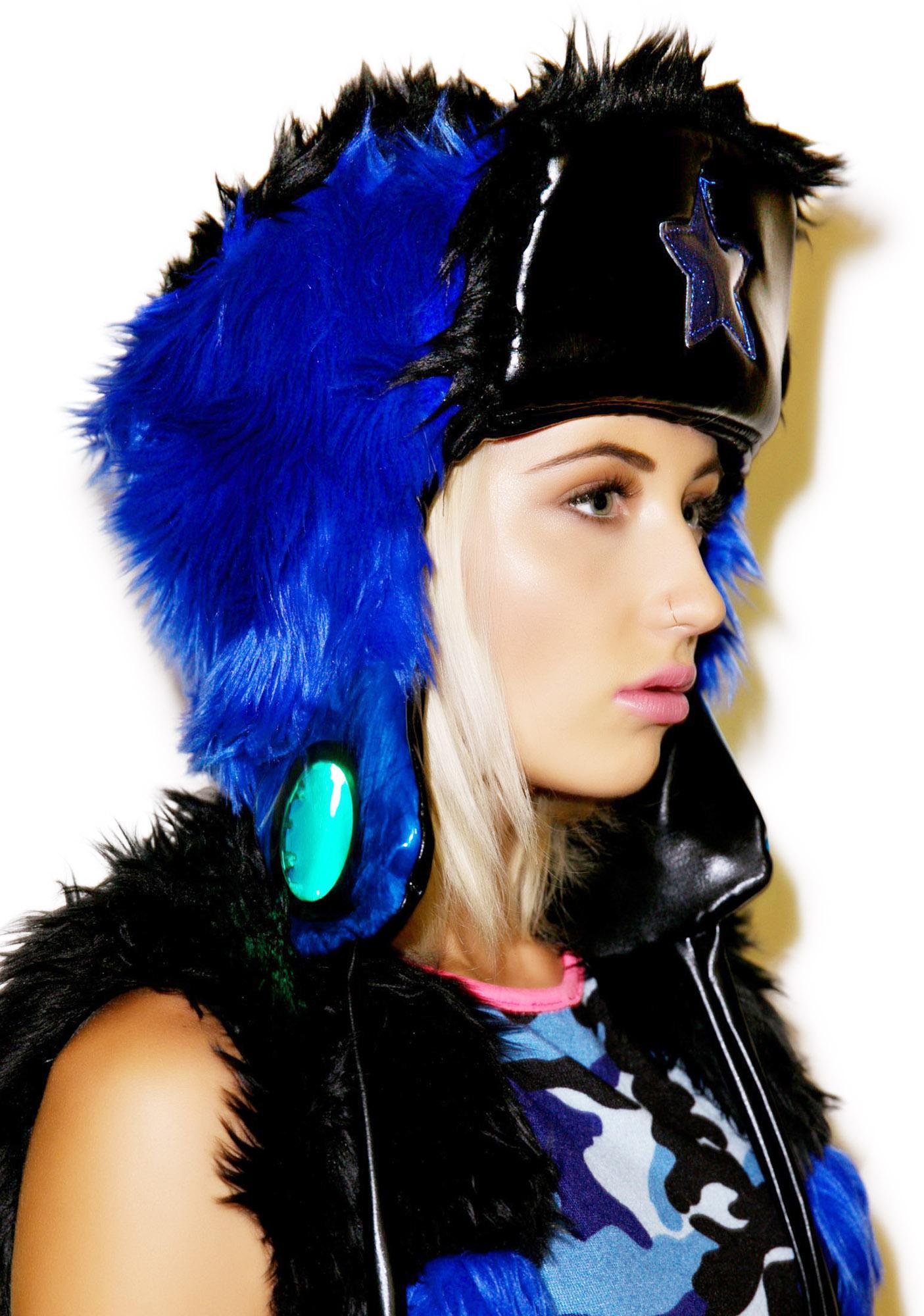 J Valentine Midnight Star Faux Fur Hat