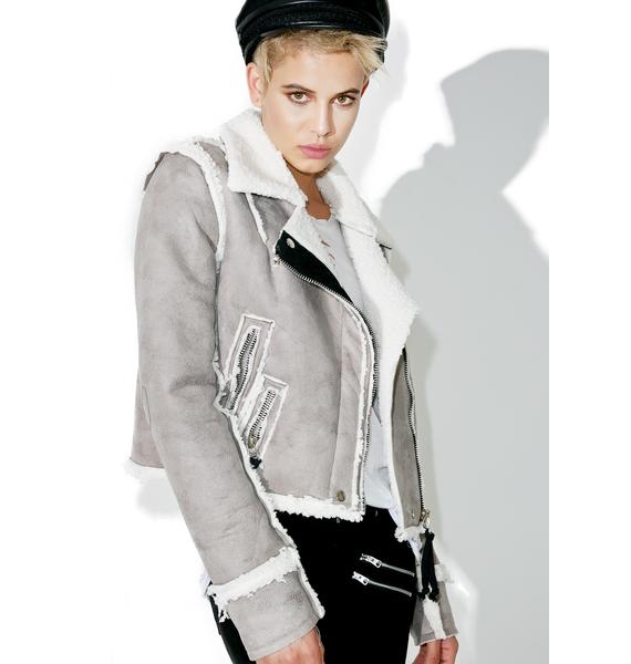 Olivier Faux Shearling Jacket