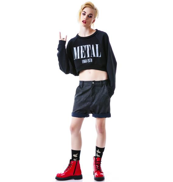 United Couture Metal Cropped Sweatshirt