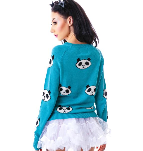 Wildfox Couture Panda Head Party Sweater
