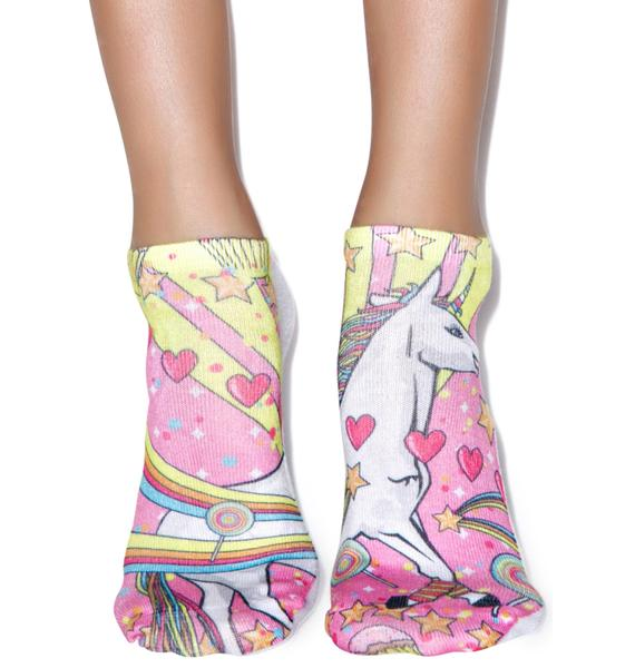 Unicorn Majik Ankle Socks