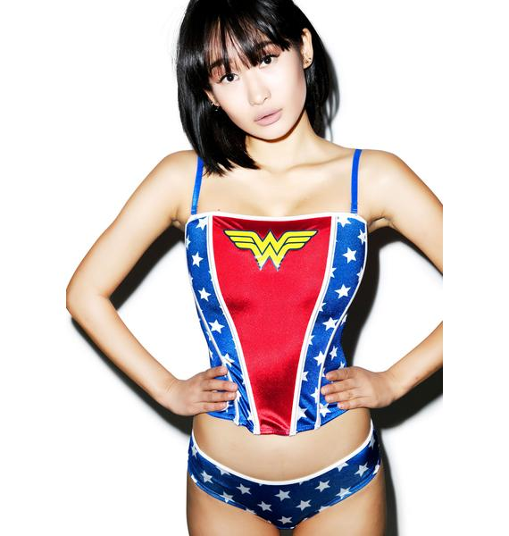 Undergirl Wonder Woman Classic Corset Set