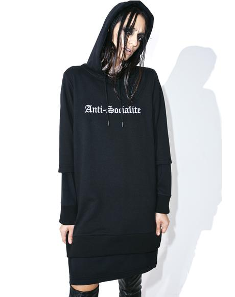 X Dolls Kill Anti-Socialite Hoodie Dress