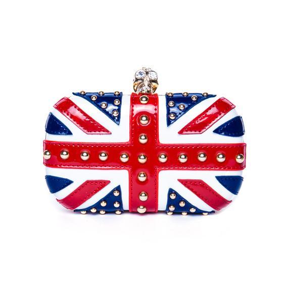 Queen Brit Flag Clutch