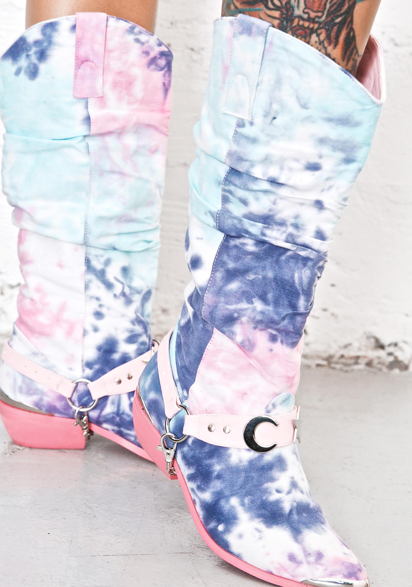 Y.R.U. Tie-Dye Deathproof Boots