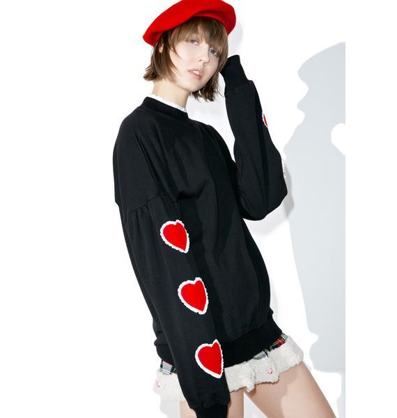 Lazy Oaf Heart Sleeve Sweater