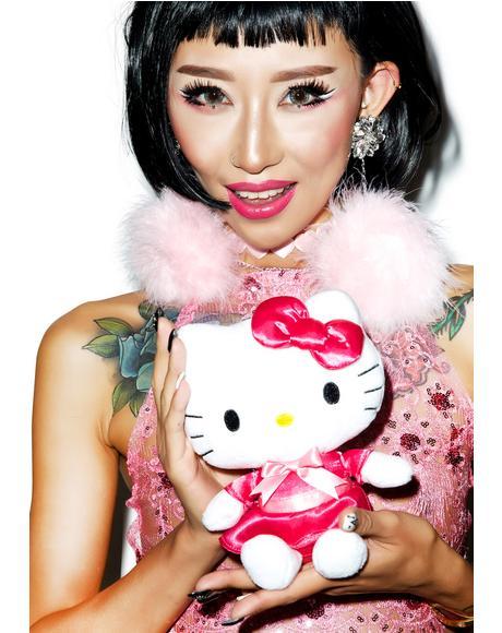 Satin Dress Huggable Hello Kitty Plush