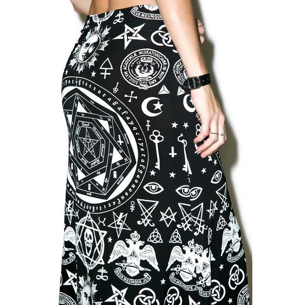 Killstar Praise Occult Maxi Skirt