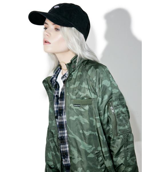 Members Only Washed Camo Boyfriend Jacket