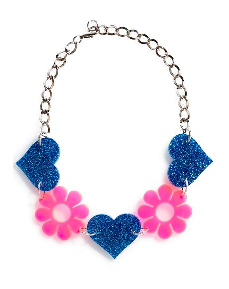 Heart & Flower Choker