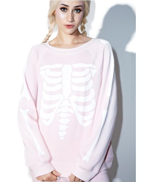 Pink Inside Out Kim's Sweater