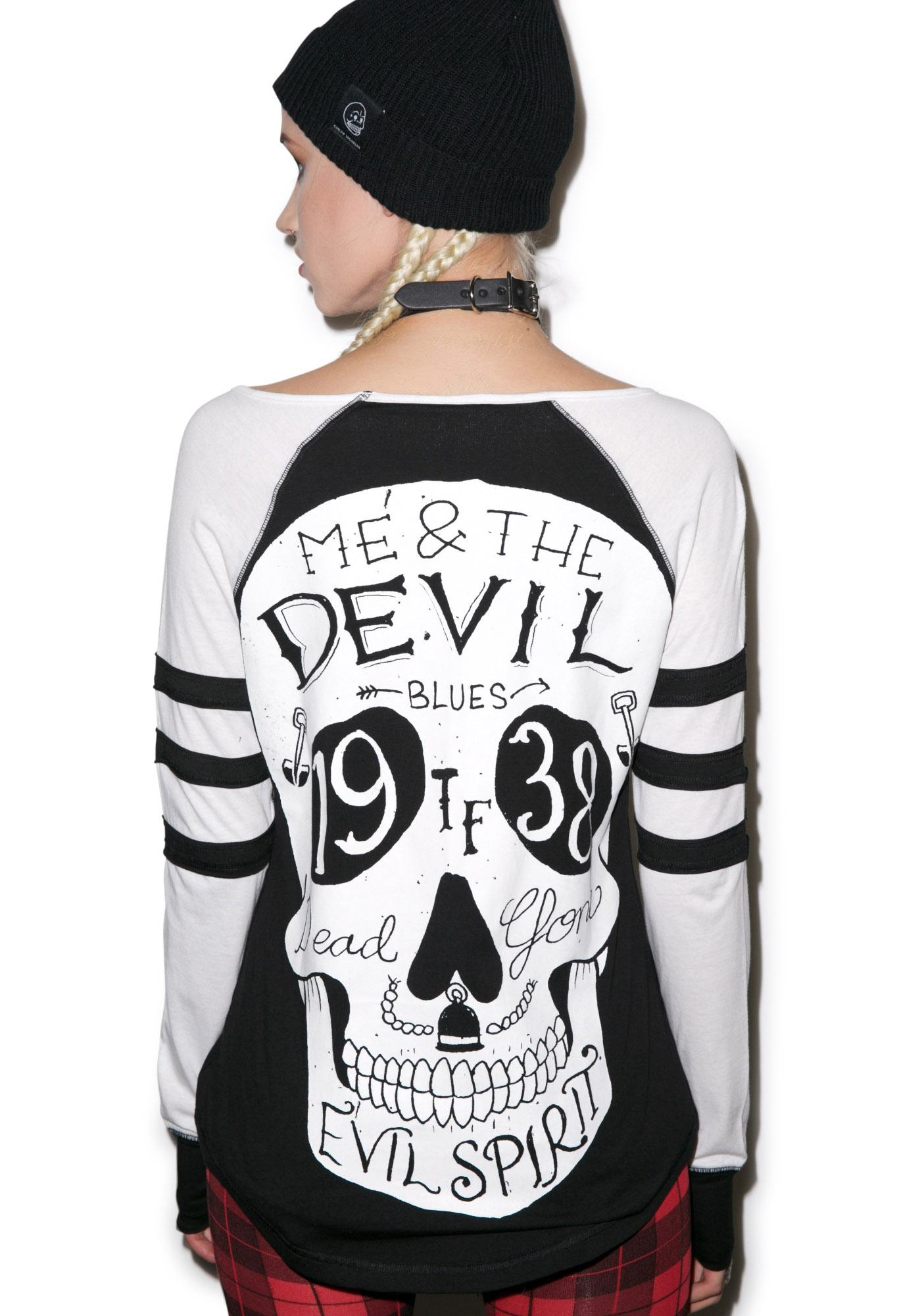 Too Fast Me & The Devil Varsity Tee