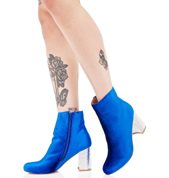 Azure Dreamscape Ankle Boots