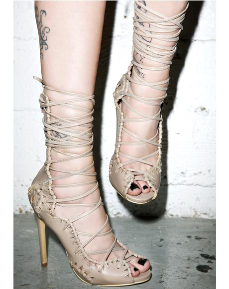 Rich Girl Lace Up Heels
