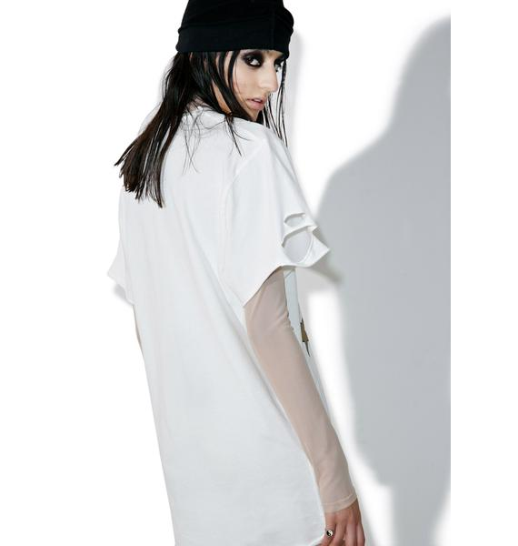 Jaded London Longline Ripped Rock Tee