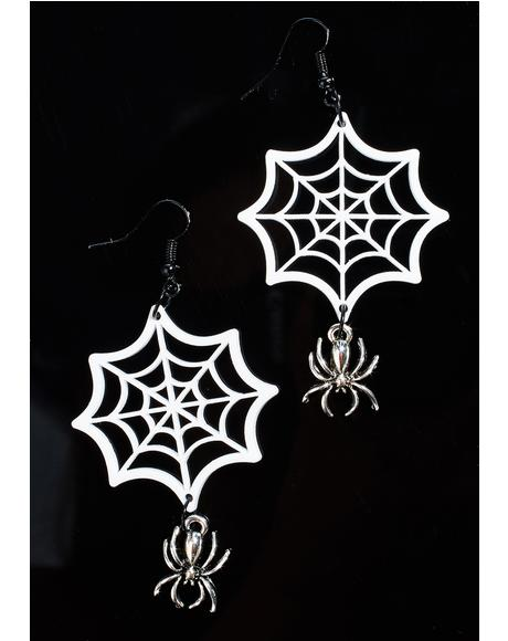 Widow Web Earrings