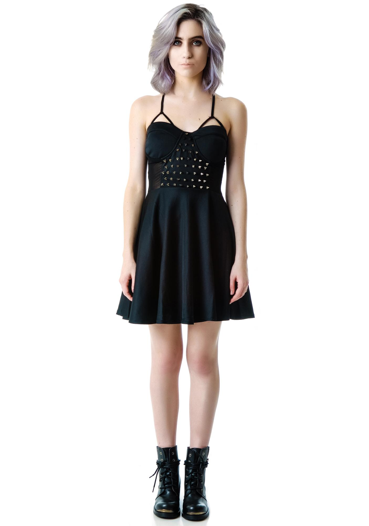 Dempsey Spiked Sheer Mid Dress