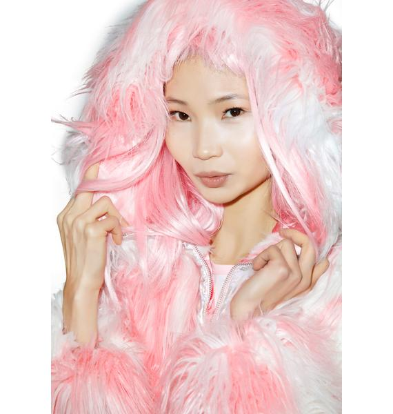 24HRS X Dolls Kill Faux Fur Phenomena Coat