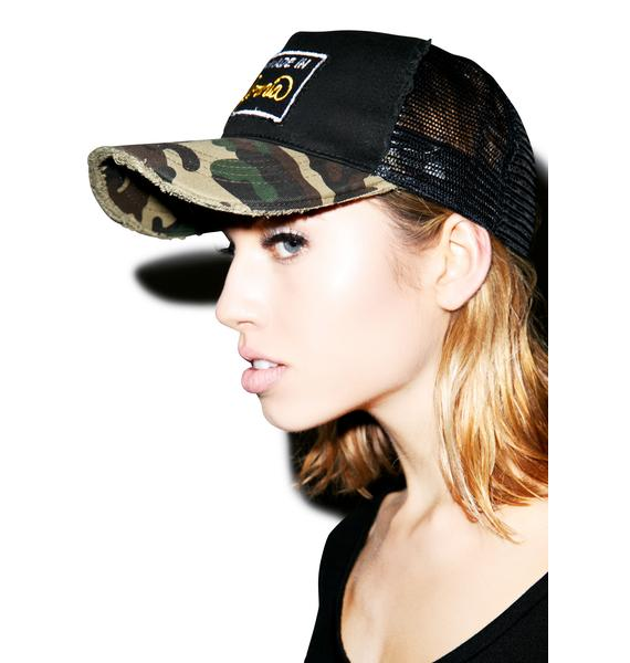 Lauren Moshi Jilly Cali Made Patch Trucker Hat