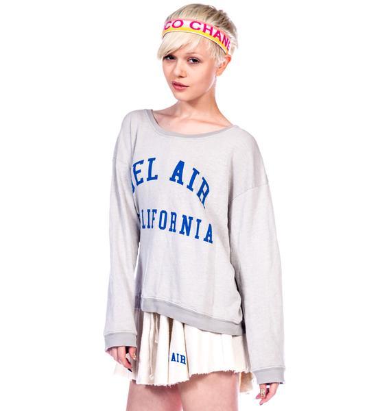 Wildfox Couture Bel Air Oversize Sweatshirt