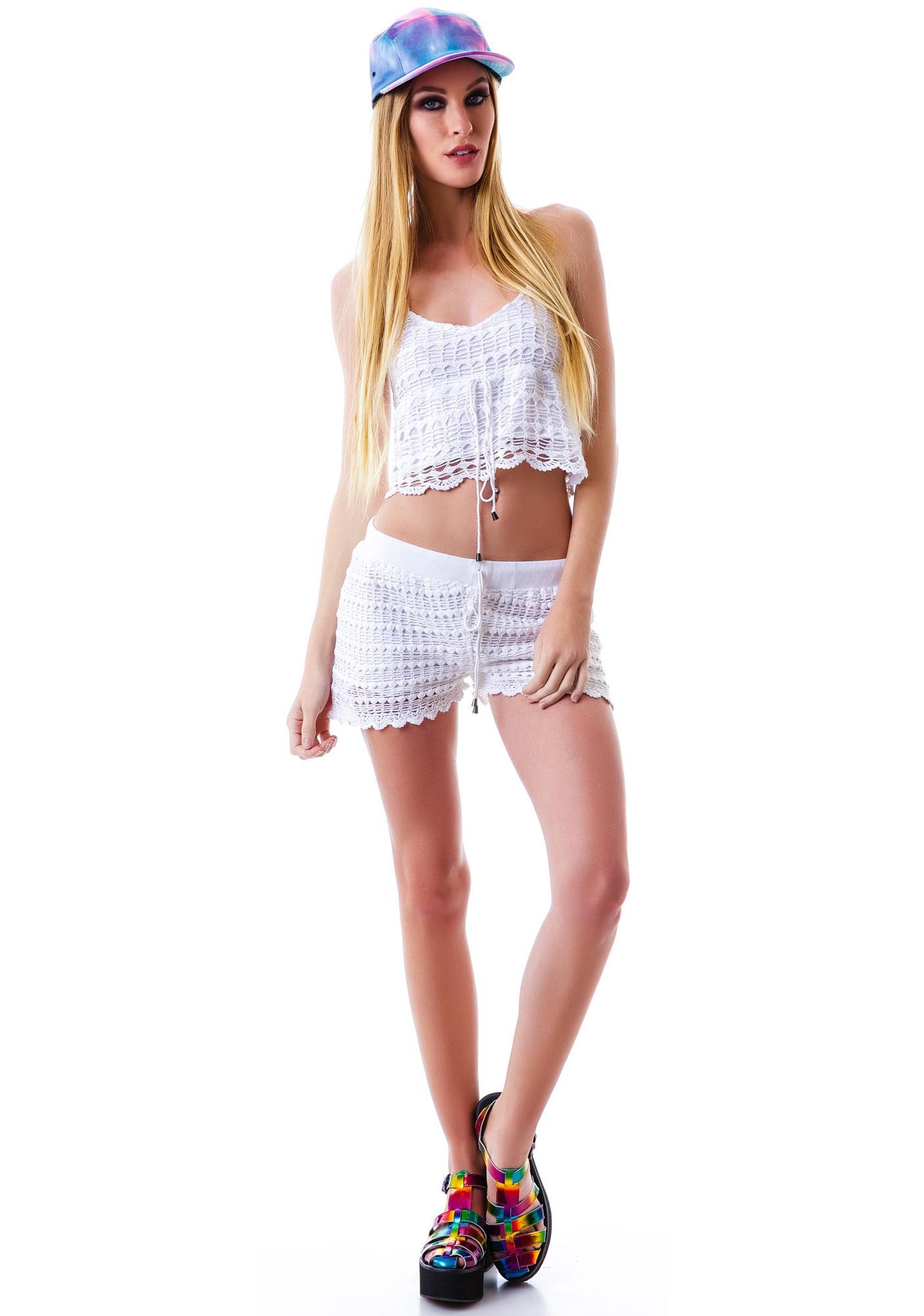Mink Pink Cotton Fields Shorts