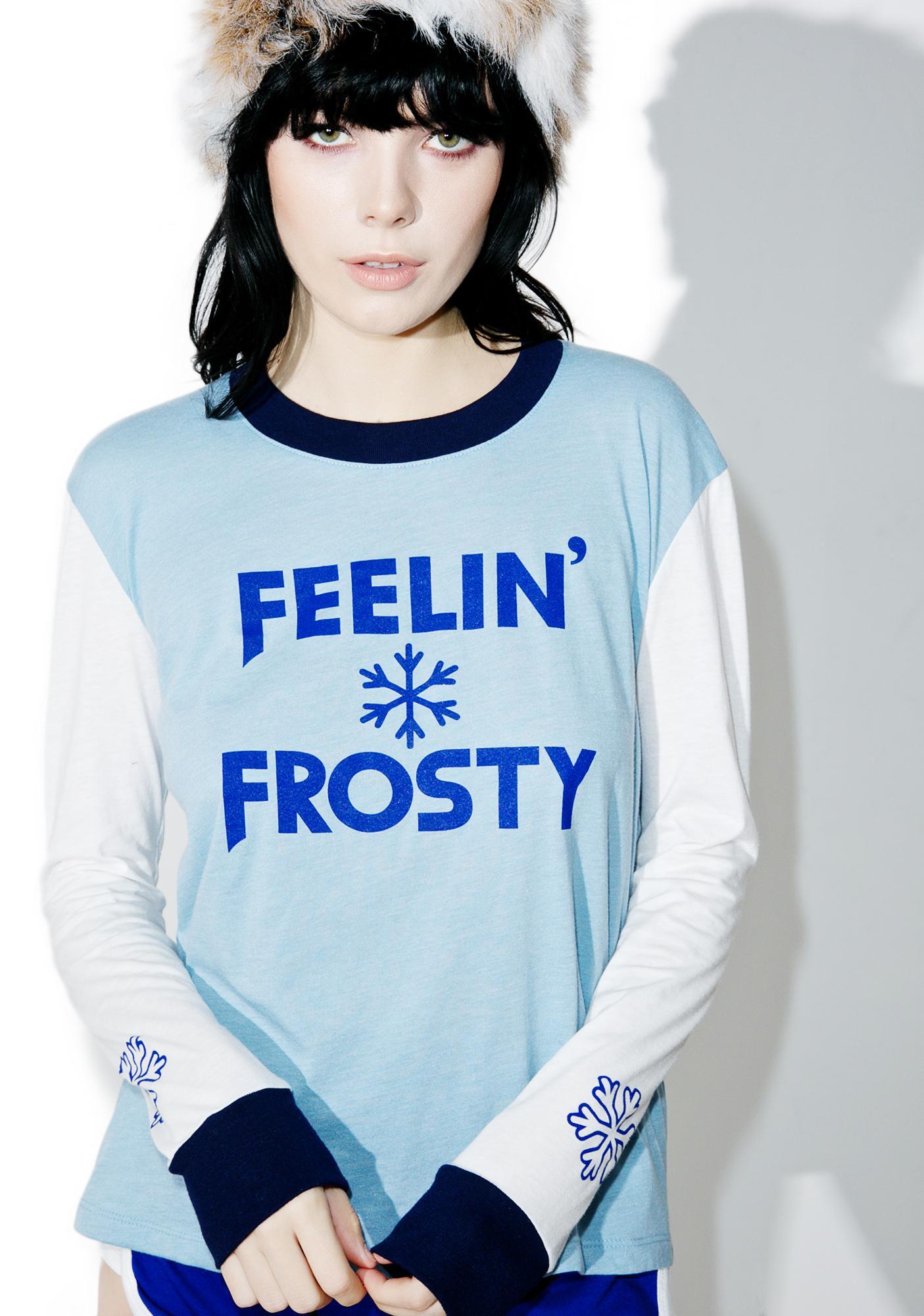 Camp Collection X Dolls Kill Feelin' Frosty Long Sleeve Ringer