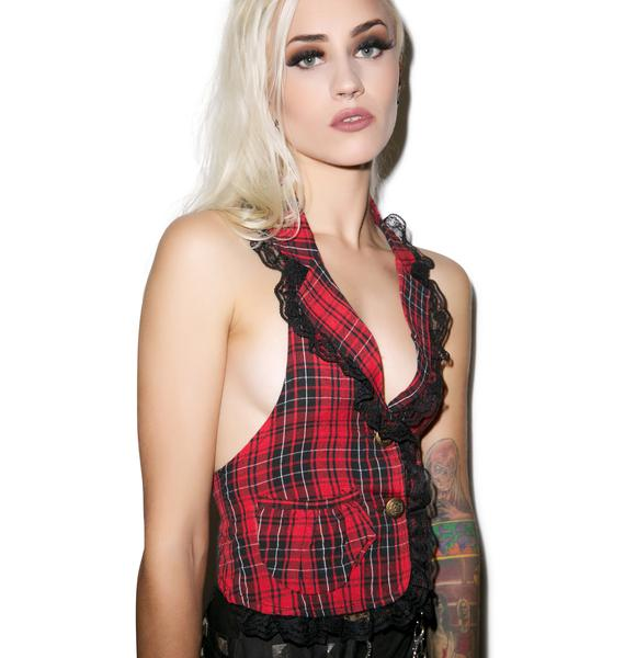Not Yer Toy Plaid Vest
