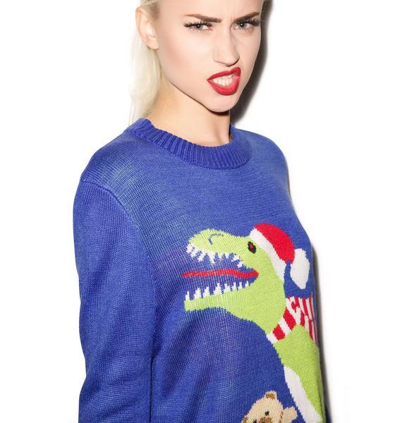 Tipsy Elves Santasaurus Rex Sweater