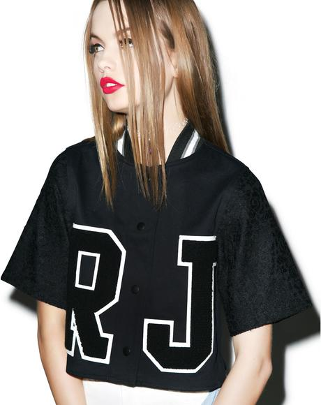 RJ Baseball Cropped Shirt