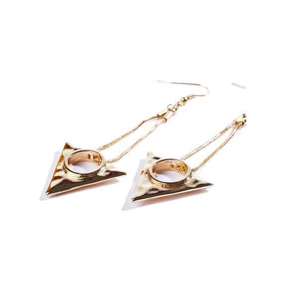 Tripartite Earrings
