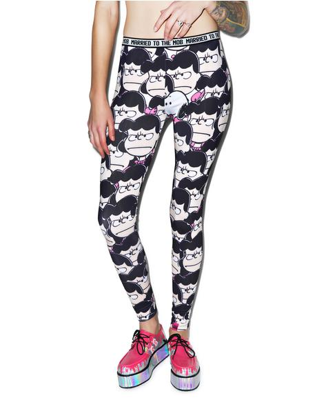Lucy Printed Stretch Leggings
