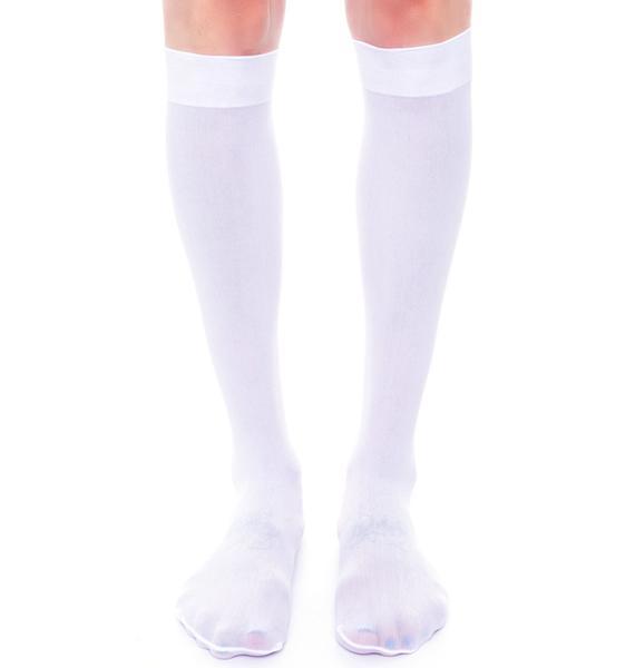 Prep School Girl Knee Socks