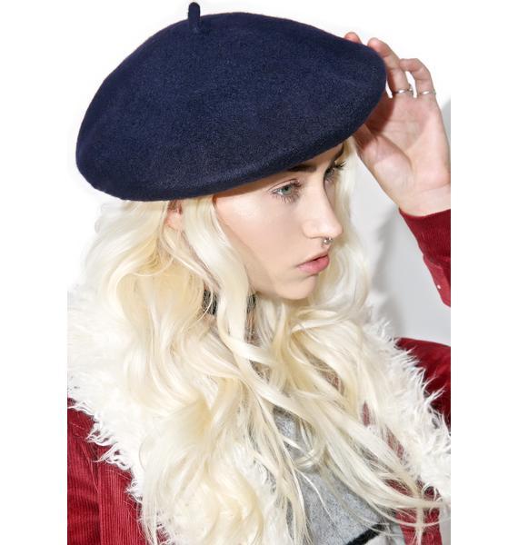 Navy Mademoiselle Beret