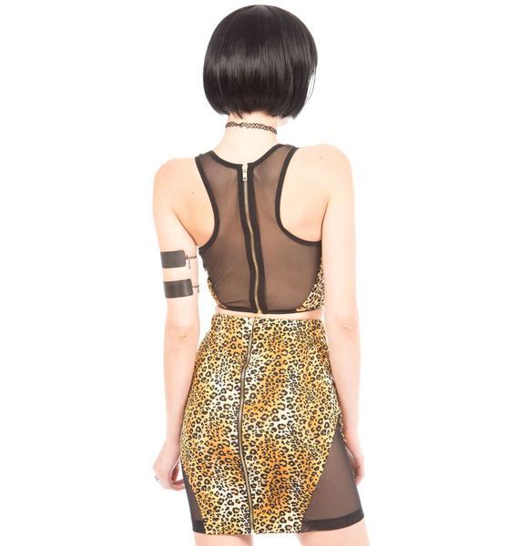 Tracy Mesh Insert Skirt