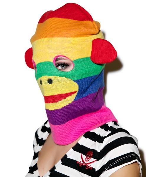 Monkey Business Knit Mask