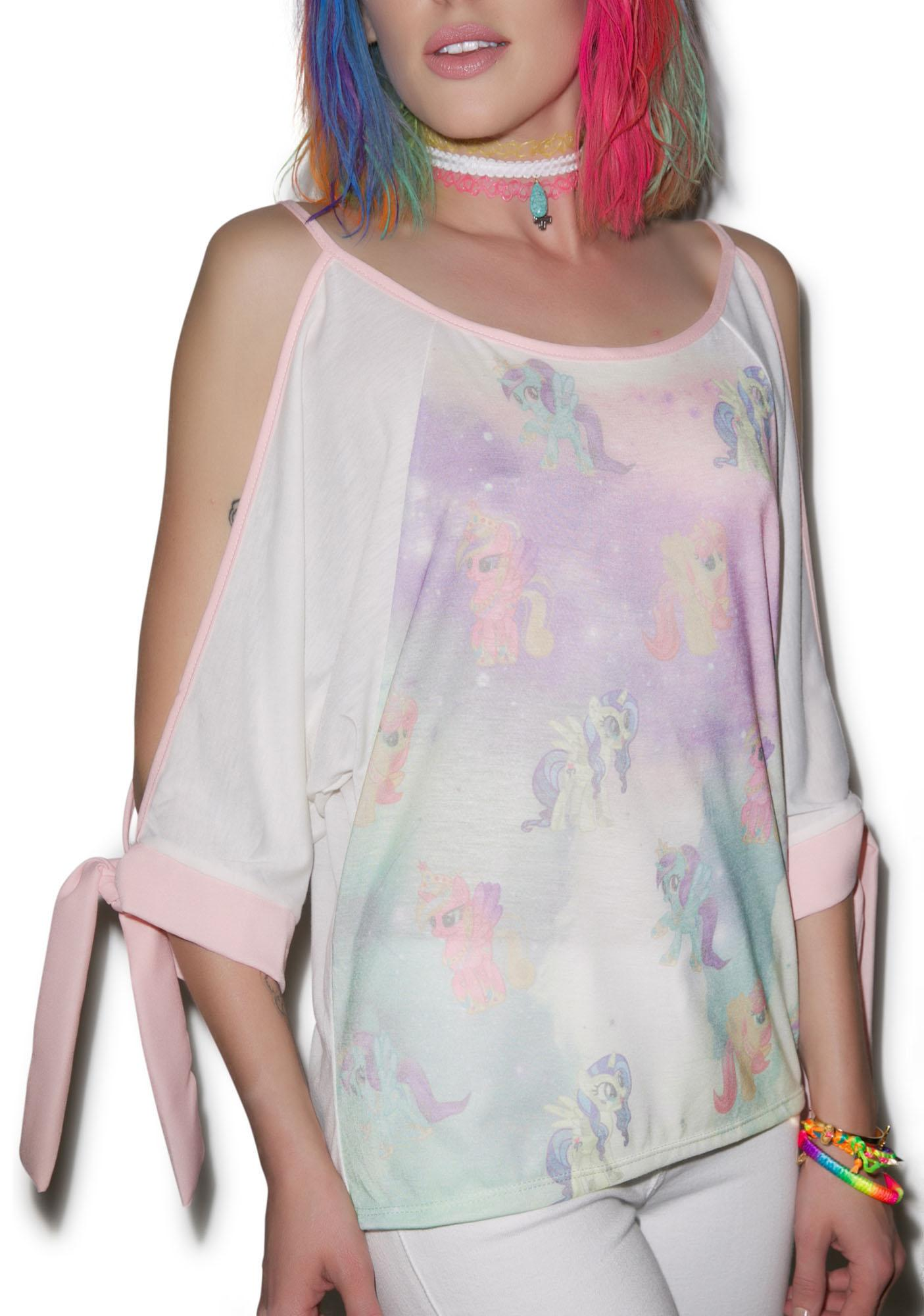 Play The Ponies Off The Shoulder Top