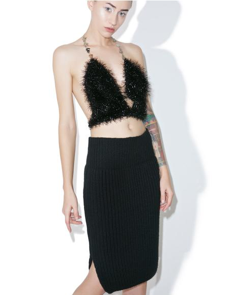Noir Knit Skirt