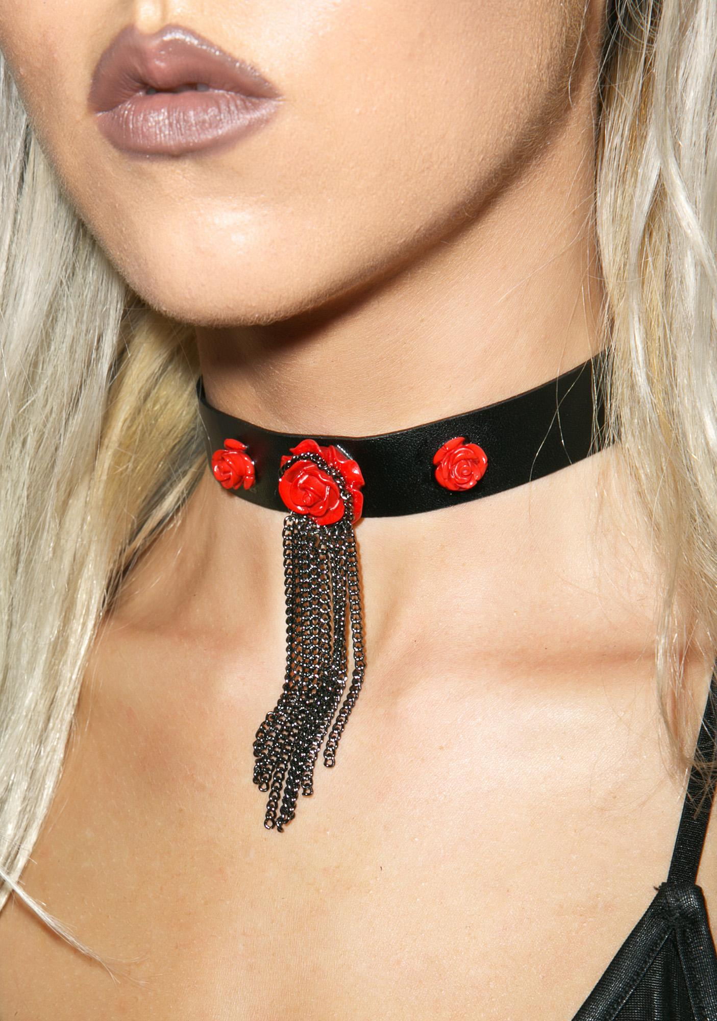 Chained Roses Choker