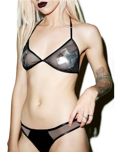 Chrome Fixation Lingerie Set