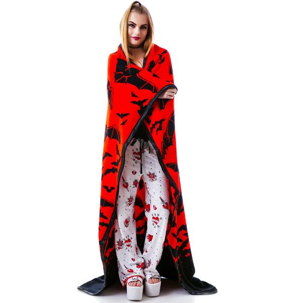 Sourpuss Clothing Bat Country Blanket