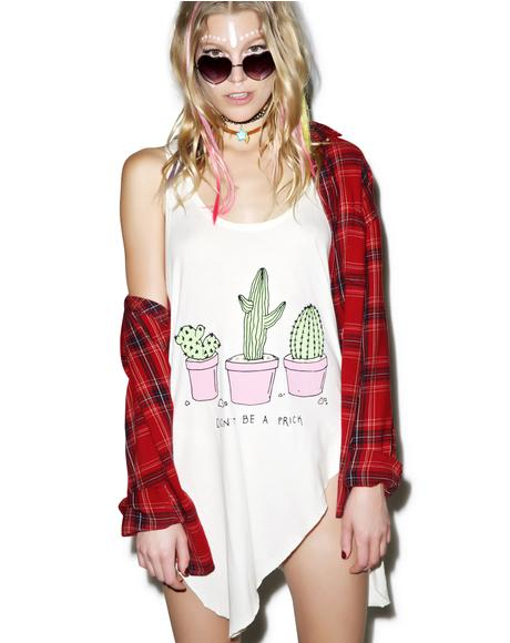 Don't Be A Prick Ripped Tank Top