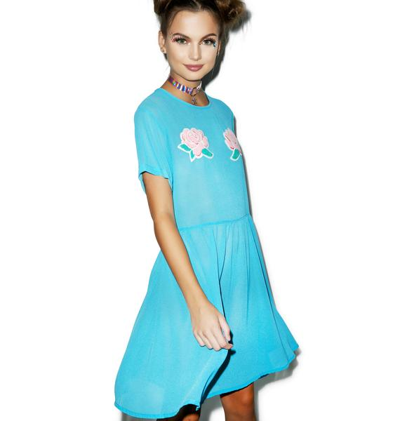 Lazy Oaf Rose Sheer Dress