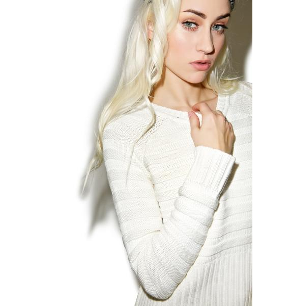 For Love & Lemons Natalie Silk Sweater