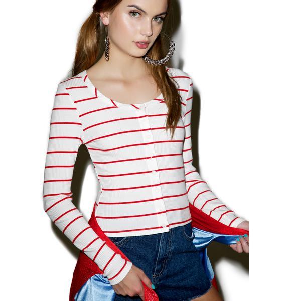 Glamorous Stripe Tribe Long Sleeve Top